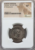 Ancients:Roman Provincial , Ancients: SYRIA. Antioch. Volusian (AD 251-253). BI tetradrachm.NGC XF....