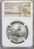 Ancients:Celtic, Ancients: DANUBIAN CELTS. Imitating Thasos. From ca. 148 BC. ARtetradrachm. NGC Choice VF....
