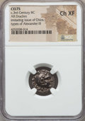 Ancients:Celtic, Ancients: EASTERN CELTS. Imitating Chios. From ca. 290 BC. ARdrachm. NGC Choice XF....