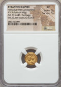 Ancients:Byzantine, Ancients: Heraclius & Heraclius Constantine (AD 613-641). AVsolidus (4.48 gm). NGC XF 5/5 - 5/5....