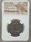 Ancients:Roman Imperial, Ancients: Julian II, the Philosopher (AD 360-363). BI maiorina(9.06 gm). NGC AU 4/5 - 5/5, silvering....