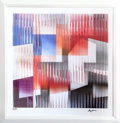 Prints, Yaacov Agam (Israeli, b. 1928). Untitled IV. Agamograph. 12 x 12 inches (30.5 x 30.5 cm) (image). Ed. 16/99. Signed and ...