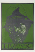 "Prints:Contemporary, Leonard Baskin (American, 1922-2000). Self Portrait - ""L.B. AET. S,"" 1956. Woodcut. 31-3/4 x 22 inches (image). 35-1/2 ..."