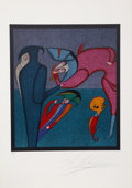 Prints:Contemporary, Mihail Chemiakin (Russian, b. 1943). Whispers, from theCarnival of St. Petersburg Suite, circa 1980. Lithograph in...
