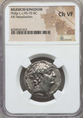 Ancients:Greek, Ancients: SELEUCID KINGDOM. Philip I Philadelphus (95-75 BC). ARtetradrachm. NGC Choice VF....