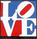 Prints:Contemporary, Robert Indiana (American, b. 1928). The American Love, 1975.Enamel on aluminum. 14 x 13-1/2 inches (35.6 x 34.3 cm). St...