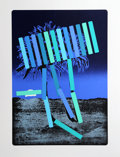 Prints:Contemporary, Menashe Kadishman (Israeli, 1932-2015). Blue Palm, circa1979. Serigraph in colors. 30-1/2 x 21-1/2 inches (image). 38-3...