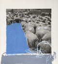 Prints:Contemporary, Menashe Kadishman (Israeli, 1932-2015). Sheep 8, 1977.Etching and serigraph in colors. 33-3/4 x 30-3/4 inches (sheet)....