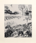 Prints:Contemporary, Peter Milton (American, b. 1930). Light Sweet Crude, 1996.Intaglio etching on Somerset paper. 18-3/8 x 15-1/4 inches (i...