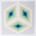 Prints:Contemporary, Jürgen Peters (German, b. 1944). Imaginary Triangle, 1981.Serigraph in colors. 23-5/8 x 23-5/8 inches (image). 27 x 27 ...