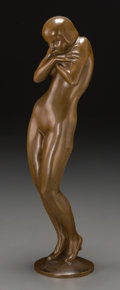 Bronze:European, Wolfgang Schwartzkopff (1886-1943). Nude Figure of a Woman.Bronze with golden brown patina. 14-3/4 inches (37.5 cm) hig...