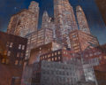 Fine Art - Painting, American:Modern  (1900 1949)  , Dunbar Dyson Beck (American, 1902-1986). The City at Night.Oil on canvas. 24 x 30 inches (61.0 x 76.2 cm). PROVENANCE...