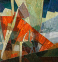 Fine Art - Painting, American:Modern  (1900 1949)  , Frederick M. Grant (American, 1886-1986). Industrial Cacophony. Oil on canvas. 33 x 31 inches (83.8 x 78.7 cm). Signed l...