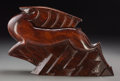 Decorative Arts, French, Jean and Jacques Adnet (French, 1900-1984). Antelope. CarvedMahogany. 9-1/2 x 15 inches (24.1 x 38.1 cm). Signed along ...