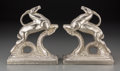 Decorative Arts, Continental, A Pair of Art Deco Chrome Antelope-Form Bookends. 7 inches high(17.8 cm). ... (Total: 2 Items)
