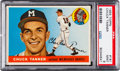 Baseball Cards:Singles (1950-1959), 1955 Topps Chuck Tanner #161 PSA Mint 9 - None Higher....