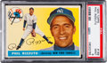 Baseball Cards:Singles (1950-1959), 1955 Topps Phil Rizzuto #189 PSA Mint 9 - Only One Higher....