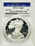 Modern Bullion Coins, 2015-W $1 Silver Eagle, Struck at West Point Mint, PR70 Deep Cameo PCGS. PCGS Population: (5476). NGC Census: (0)....