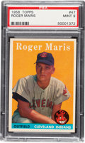 Baseball Cards:Singles (1950-1959), 1958 Topps Roger Maris #47 PSA Mint 9 - None Higher! ...