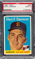 Baseball Cards:Singles (1950-1959), 1958 Topps Daryl Spencer #68 PSA Mint 9 - Pop Two, None Higher....