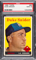 Baseball Cards:Singles (1950-1959), 1958 Topps Duke Snider #88 PSA Mint 9 - Only One Higher....