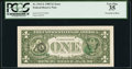 Error Notes:Third Printing on Reverse, Overprint on Back Fr. 1913-L $1 1985 Federal Reserve Note. PCGS Very Fine 35.. ...