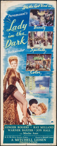 "Movie Posters:Comedy, Lady in the Dark (Paramount, 1944). Insert (14"" X 36""). Comedy.. ..."