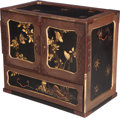 Asian:Japanese, A Japanese Partial Gilt Lacquered Chest With Bronze Mounts, 20thcentury. 20-1/2 h x 23-1/2 w x 13-3/4 d inches (52.1 x 59.7...