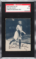 Baseball Cards:Singles (1930-1939), Signed 1934-36 R318 Batter-Up Bill Dickey #117 SGC Authentic....