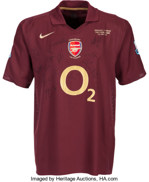 hot sales b3f13 b2b83 2006 Thierry Henry Team Signed Game Worn Arsenal Jersey from ...