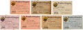 Football Collectibles:Others, 1931-38 Joe Carr Knights of Columbus Membership Cards Lot of 7 from The Joe Carr Find. ...