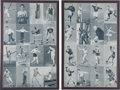 """Olympic Cards:General, Very Rare 1949 Exhibits """"Sports Champions"""" Complete Set in TwoUncut Sheets. ..."""
