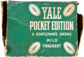 Football Collectibles:Others, 1920's Yale Pocket Edition Cigar Box. ...