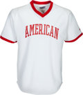 Baseball Collectibles:Uniforms, 1980's Ken Aspromonte Game Worn Cracker Jack Old-Timers' Day Jerseyfrom The Ken Aspromonte Collection. ...