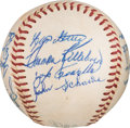Baseball Collectibles:Balls, 1959 Washington Senators Team Signed Baseball from The KenAspromonte Collection....