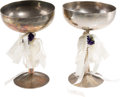 Football Collectibles:Others, 1987 Jerry & Jackie Rice Wedding Cups. ...