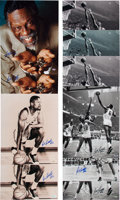 Basketball Collectibles:Photos, Bill Russell Signed Oversized Photographs Lot of 10....