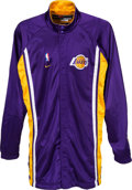 Basketball Collectibles:Uniforms, 2010's Kobe Bryant Game Worn Los Angeles Lakers Warm-up Jacket.....
