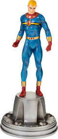 Memorabilia:Comic-Related, Miracleman Hand-Painted Statue by Randy Bowen, Signed by Neil Gaiman (Bowen Designs, 2000s)....