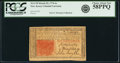Colonial Notes:New Jersey, New Jersey March 25, 1776 6 Shillings Fr. NJ-178 PCGS Choice About New 58PPQ.. ...