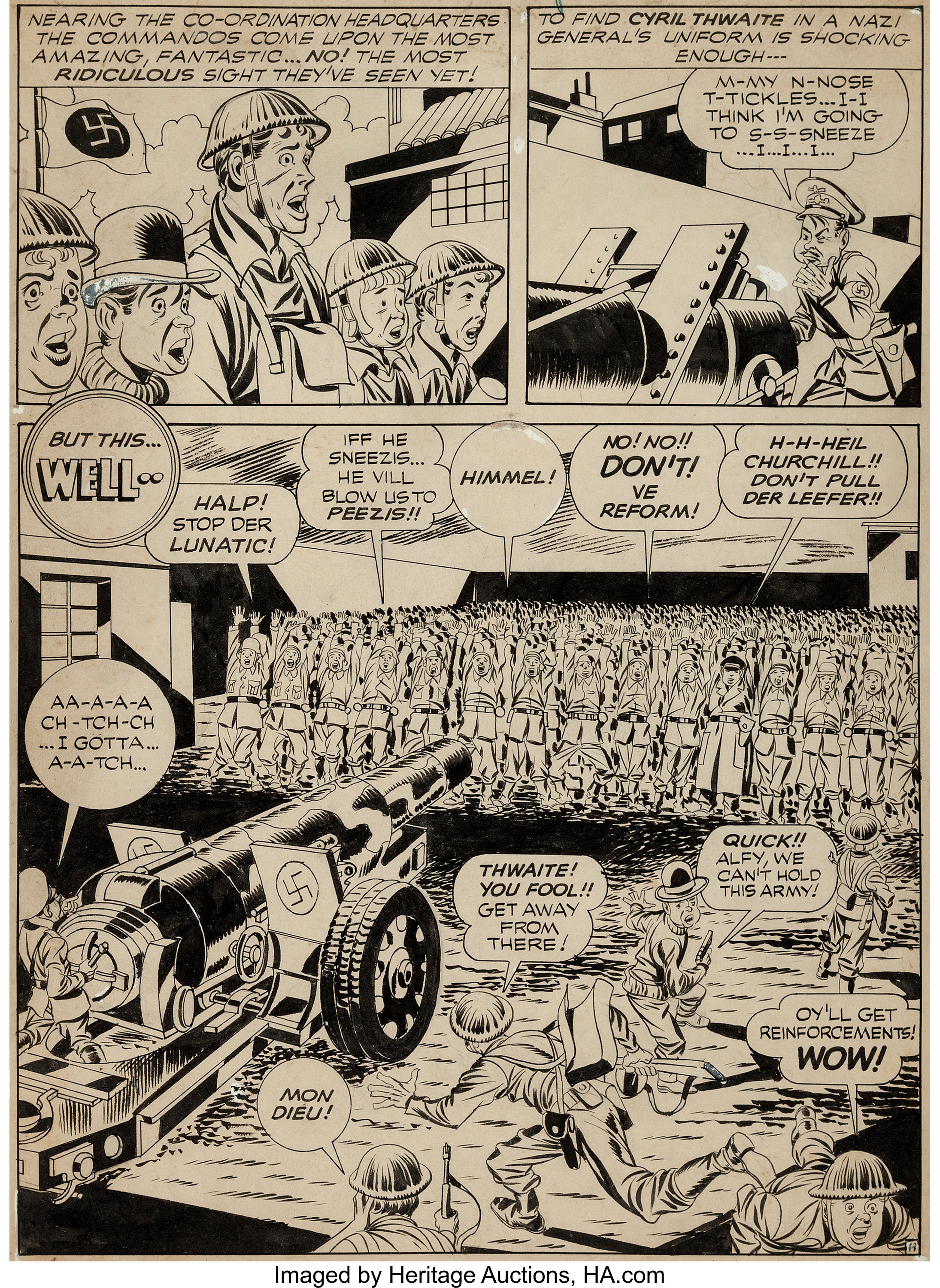 Jack Kirby And Joe Simon Boy Commandos 3 Story Page 11 Original Lot 92058 Heritage Auctions