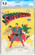Golden Age (1938-1955):Superhero, Superman #17 (DC, 1942) CGC VF/NM 9.0 White pages....