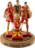 "Memorabilia:Comic-Related, Captain Marvel Family 5"" Syroco Figure Set and Base Group of 5 (Multi-Products/R. W. Kerr, 1945/1946).... (Total: 5 Items)"