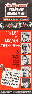 "The List of Adrian Messenger (Universal, 1963). Door Panel (20"" X 60""). Advance. Mystery"