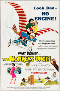"The Monkey's Uncle & Others Lot (Buena Vista, 1965). One Sheet (27"" X 41""), Spanish One Sheet (27.5""..."