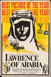 "Lawrence of Arabia (Columbia, 1963). Poster (40"" X 60"") Academy Award Style. War"