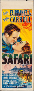 "Movie Posters:Adventure, Safari (Paramount, 1940). Australian Pre-War Daybill (15"" X 40"").Adventure.. ..."