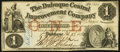Obsoletes By State:Iowa, Dubuque, IA- Dubuque Central Improvement Company $1 Feb. 27, 1858....