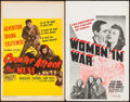 "Movie Posters:War, Counter-Attack & Other Lot (Columbia, 1945). Window Cards (2)(14"" X 22""). War.. ... (Total: 2 Items)"