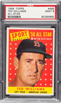 Baseball Cards:Singles (1950-1959), 1958 Topps Ted Williams All Star #485 PSA Mint 9....